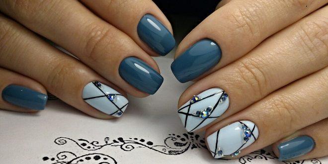 Дизайн стразами на ногтях 2017-2018 новинки
