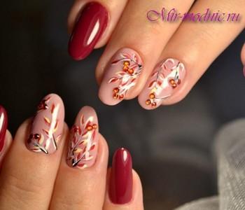фото рисунки на ногтях осень