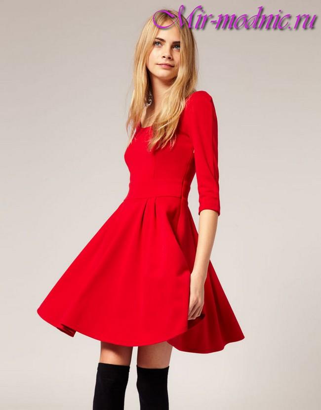 486Модели красных платьев