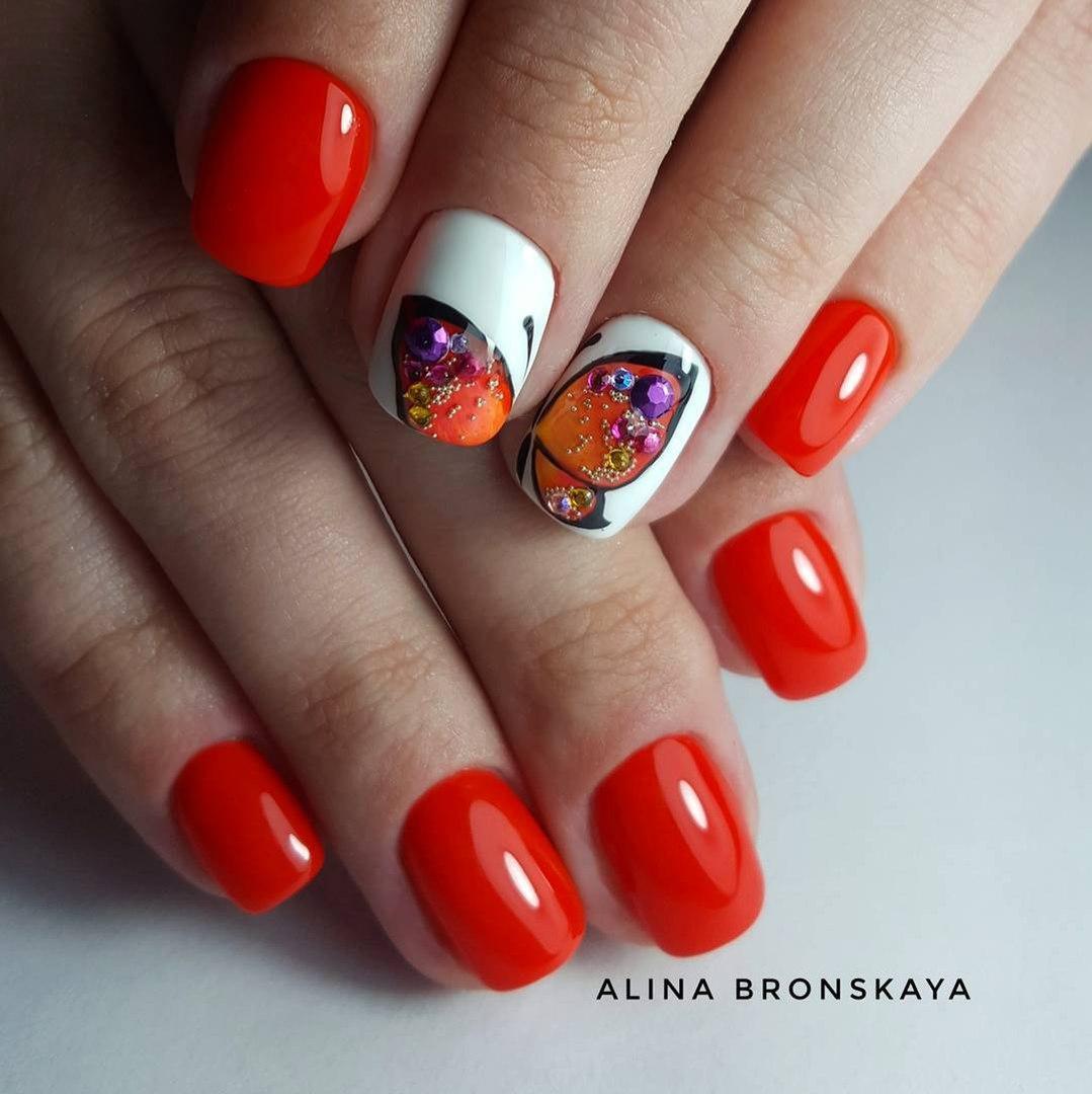 Дизайн ногтей шеллак весна 2018 фото