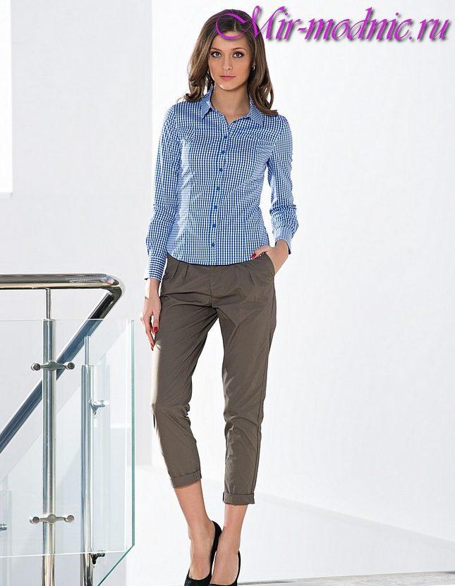 Укороченные брюки женские с чем носить