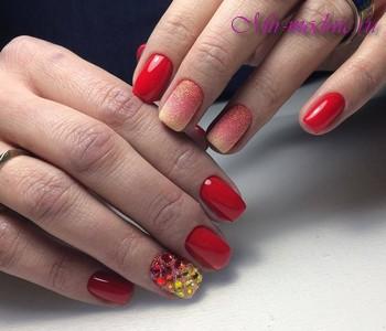 Осенний дизайн ногтей 2017 гель лак
