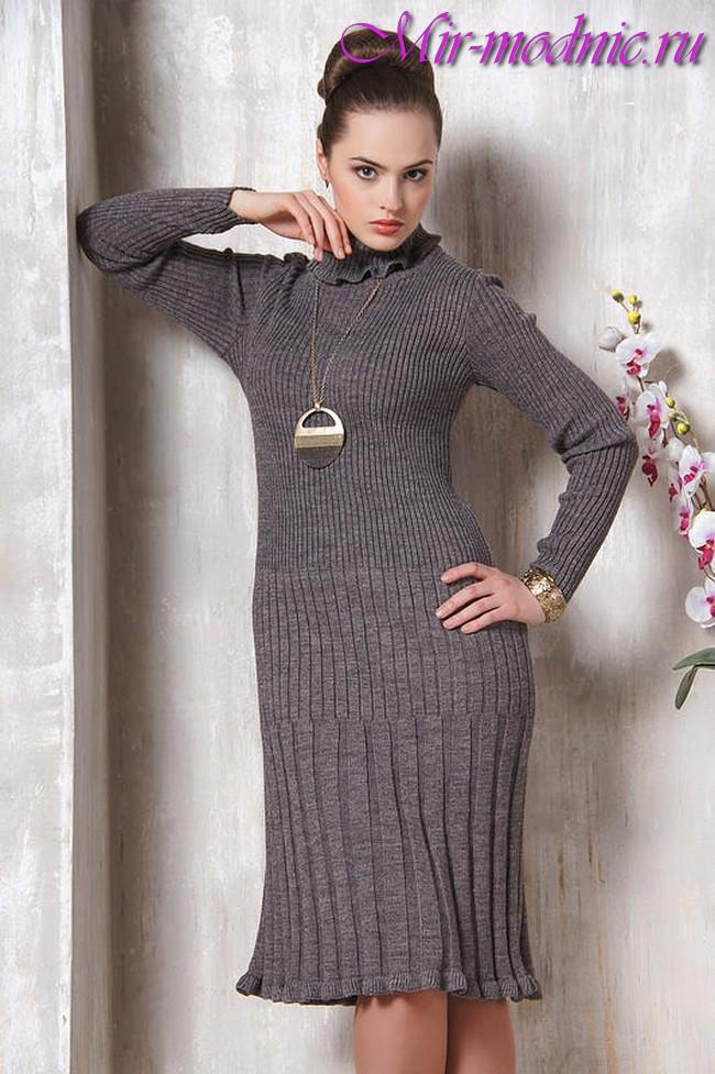 Вязаные платья крючком 2017