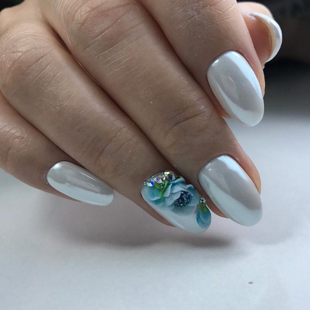 Дизайн ногтей зима 2018 втирка