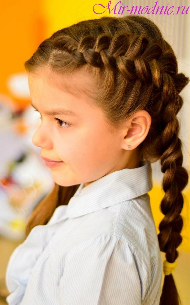 Прически для девочек начальных классов
