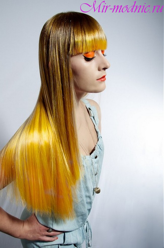 Модное окрашивание волос 2018 на длинные волосы фото