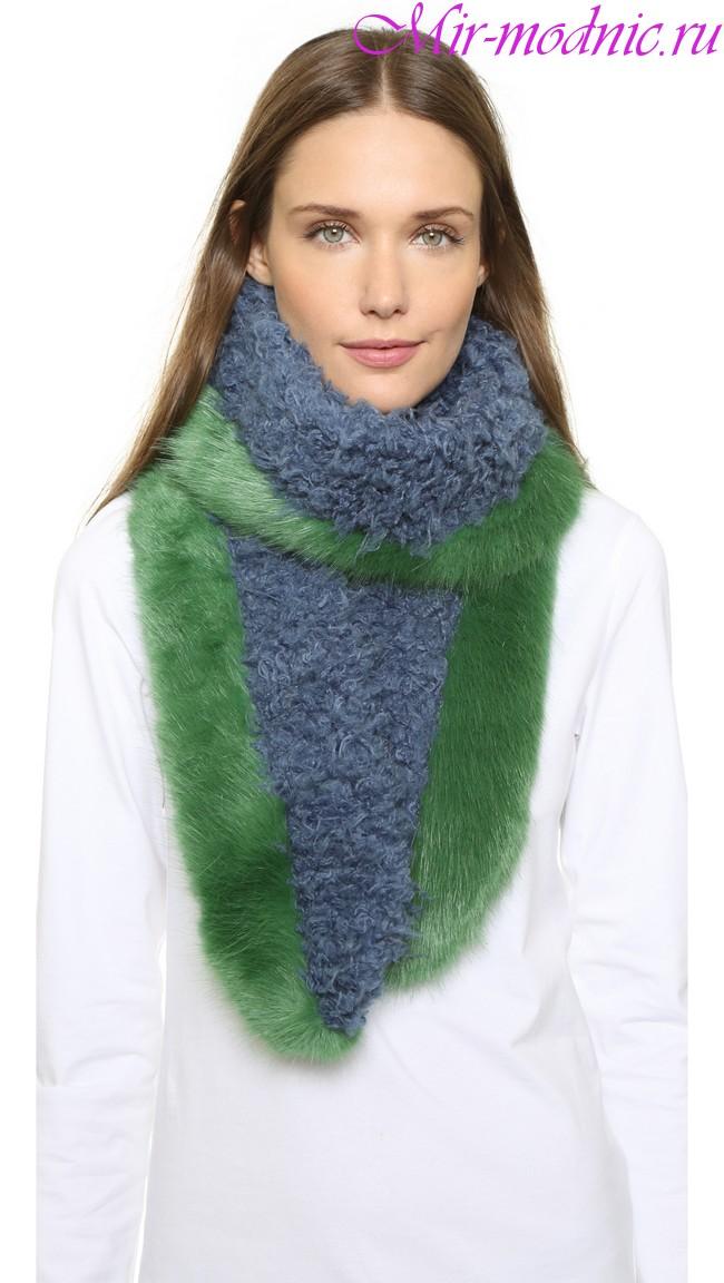 Модные шарфы 2018 фото