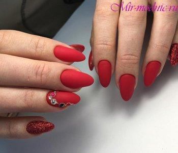 Ногти дизайн новинки 2018 зима фото красные