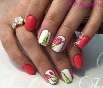 Маникюр на короткие ногти фото дизайн 2018 шеллак весна