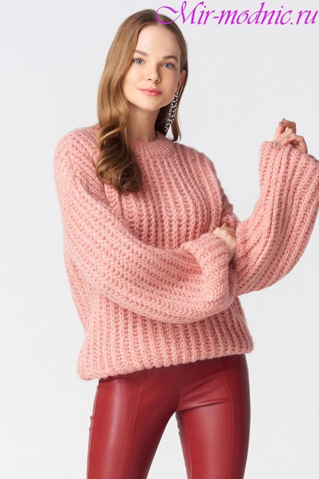 Вязаный свитер женский 2018