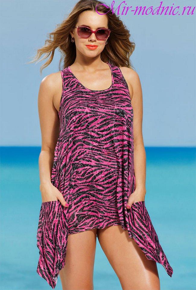 Пляжные туники для полных женщин фото
