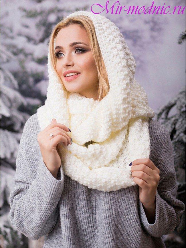 Шарфы осень зима 2018-2019 модные тренды фото