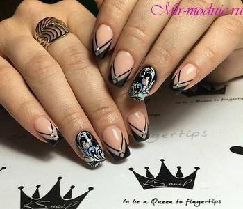 Дизайн ногтей 2018 зима фото новинки красивый френч на ногтях фото