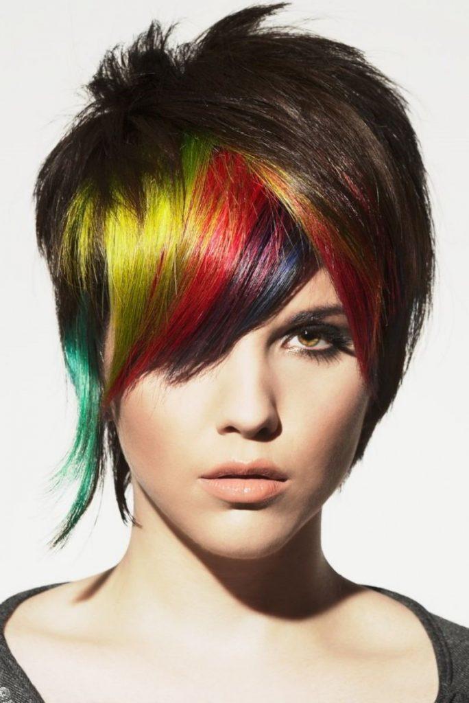 как покрасить волосы в два цвета фото белгилар кўпинча пешоб
