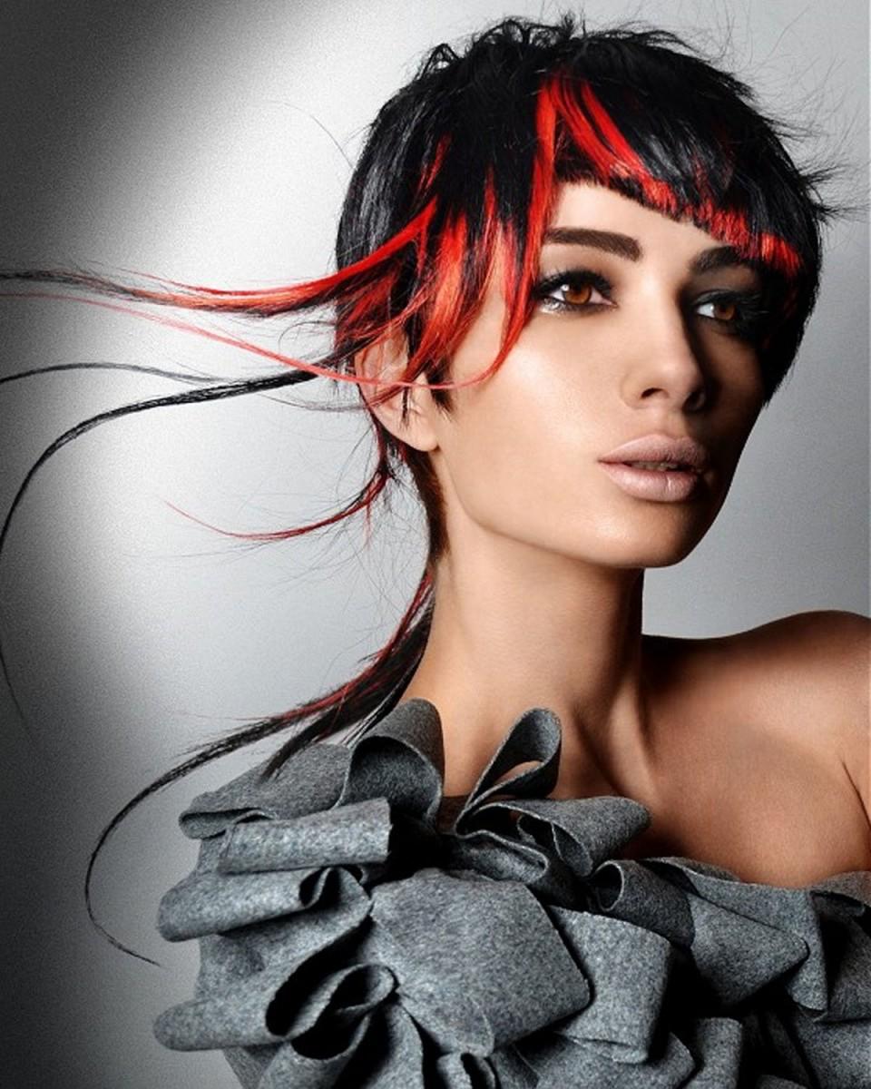 нее покраска волос перышками фото светлая
