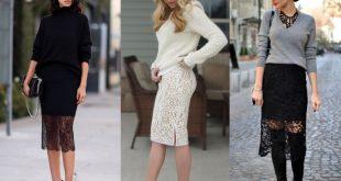 С чем носить гипюровую юбку